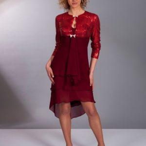 robe de soirée bordeaux 44 za104_600x600