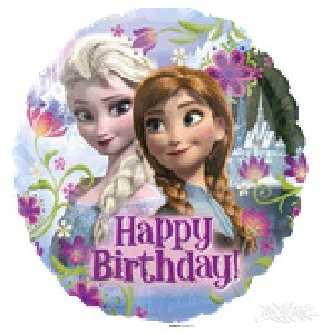 ballon standard mtallique joyeux anniversaire la reine des neiges - Joyeux Anniversaire Reine Des Neiges